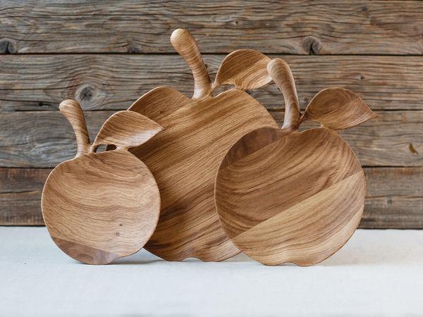 Деревянные тарелки   Ярмарка Мастеров - ручная работа, handmade