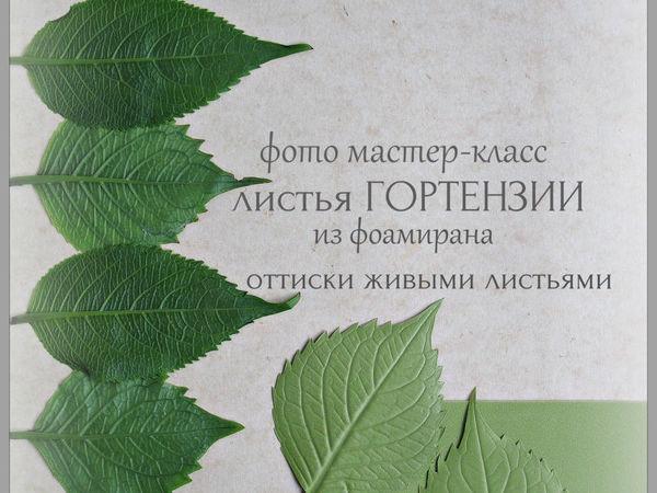 Создаем листья гортензии из фоамирана с помощью живых листьев | Ярмарка Мастеров - ручная работа, handmade