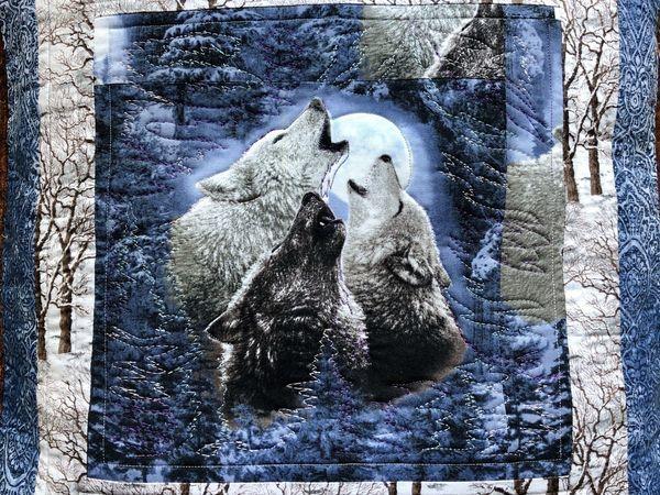 Шьем лоскутную подушку «Волки». Часть 2   Ярмарка Мастеров - ручная работа, handmade
