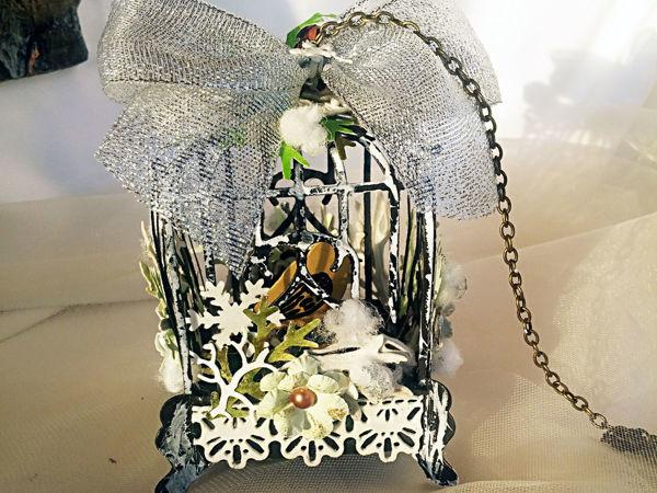 Декорируем интерьерную клетку с птичкой   Ярмарка Мастеров - ручная работа, handmade