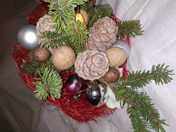 Делаем новогодний ореховый букет   Ярмарка Мастеров - ручная работа, handmade