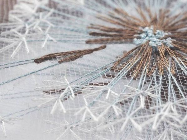 Невероятно нежная и воздушная вышивка! | Ярмарка Мастеров - ручная работа, handmade