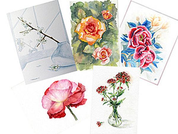 Когда все готовятся к Новому Году, я рисую цветочки. | Ярмарка Мастеров - ручная работа, handmade