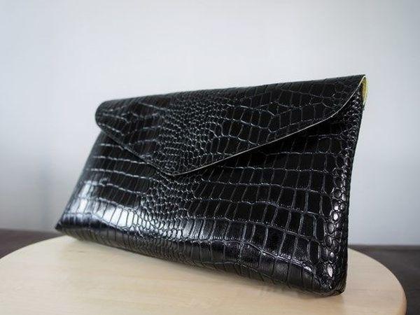 71833d0c0 Шьем клатч из натуральной кожи   Ярмарка Мастеров - ручная работа, handmade