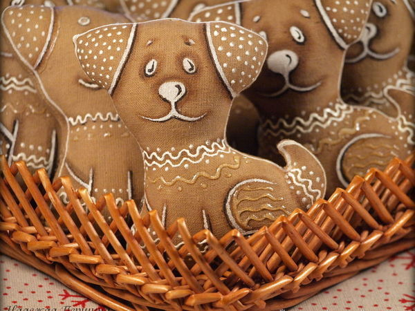 Sewing A Cute Gingerbread Dog: For Those Who Love Handmade Symbolic Gifts   Livemaster - handmade