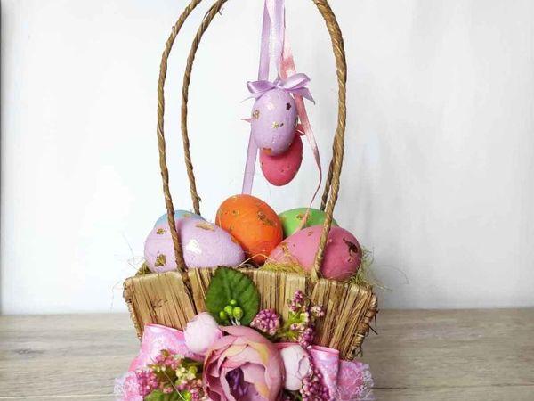 Декор пасхальной корзинки | Ярмарка Мастеров - ручная работа, handmade