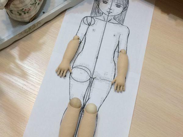 Как соблюсти пропорции в кукольной фигуре — лайфхак   Ярмарка Мастеров - ручная работа, handmade