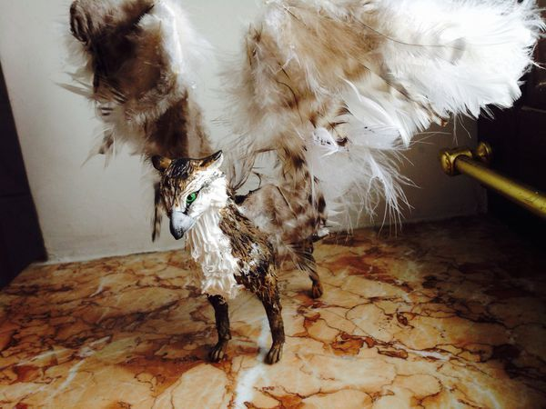 Making a Griffin Figurine with Your Hands out of Velvet Clay | Livemaster - handmade