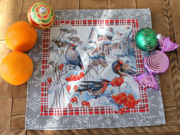 Еще одни задорные птички, символизирующие зиму, снег, рябину | Ярмарка Мастеров - ручная работа, handmade