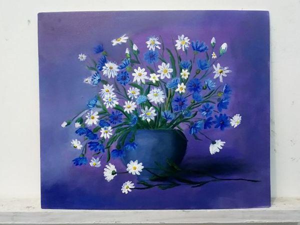 Картина маслом  «Полевые цветы» | Ярмарка Мастеров - ручная работа, handmade