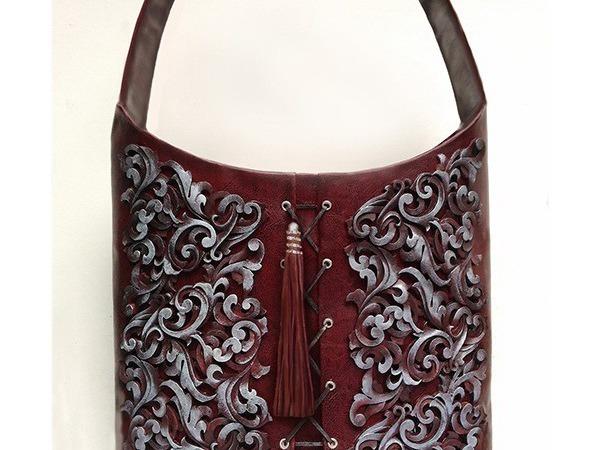 Декорирование сумки объемным гибким орнаментом | Ярмарка Мастеров - ручная работа, handmade