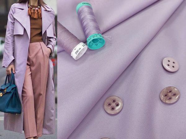 Твил костюмно-плащевой с водоотталкивающей пропиткой , сиреневый   Ярмарка Мастеров - ручная работа, handmade