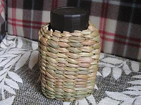 Плетем камышовый футляр для банки | Ярмарка Мастеров - ручная работа, handmade