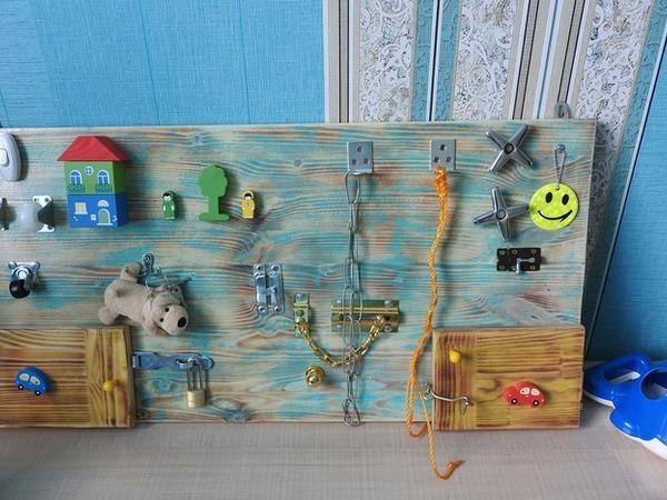 Как сделать бизиборд для внука   Ярмарка Мастеров - ручная работа, handmade