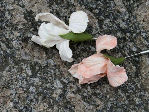 Мастер-класс по лепке цветов. Ирисы из глины в одно запекание   Ярмарка Мастеров - ручная работа, handmade