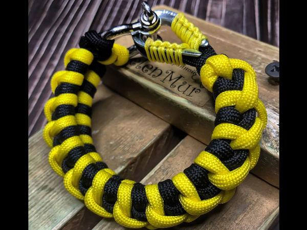 Плетем браслет из паракорда Bumblebee   Ярмарка Мастеров - ручная работа, handmade
