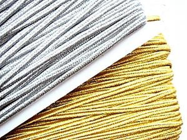 Золотой и серебренный сутаж 4мм | Ярмарка Мастеров - ручная работа, handmade