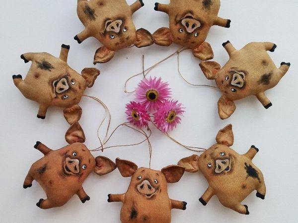 Шьём на ёлку кофейную свинку | Ярмарка Мастеров - ручная работа, handmade