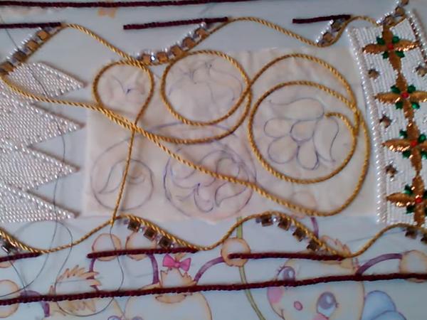Видео: вышивка шнуром рисунка орнамента платья | Ярмарка Мастеров - ручная работа, handmade