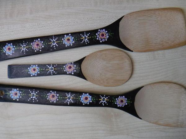 Роспись деревянных кухонных лопаток   Ярмарка Мастеров - ручная работа, handmade