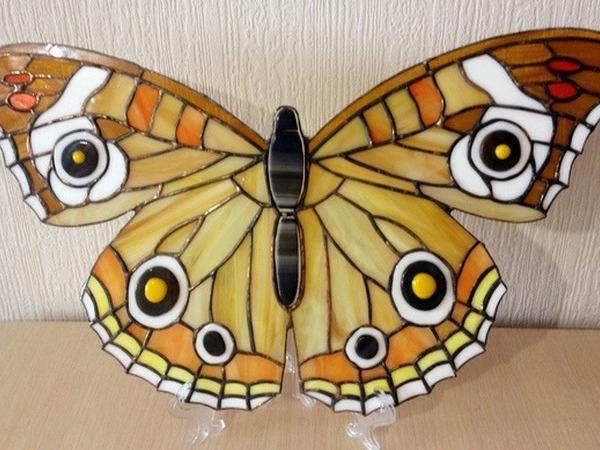 Изготовление бабочки в технике Тиффани | Ярмарка Мастеров - ручная работа, handmade
