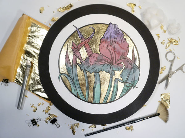 Золочение бумаги поталью и фольгой | Ярмарка Мастеров - ручная работа, handmade