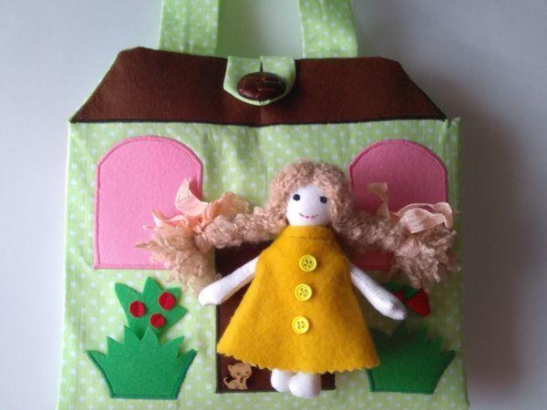 Новинка магазина:игровая сумочка-домик с куколкой! | Ярмарка Мастеров - ручная работа, handmade