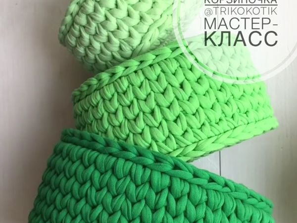 Вязаная идеальная корзина | Ярмарка Мастеров - ручная работа, handmade