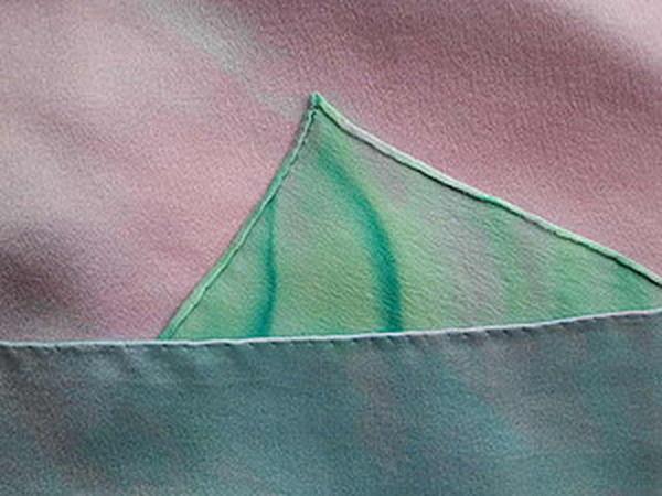 Обработка края шелкового платка. | Ярмарка Мастеров - ручная работа, handmade