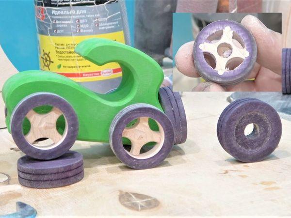 Делаем деревянные колеса на деревянных дисках | Ярмарка Мастеров - ручная работа, handmade