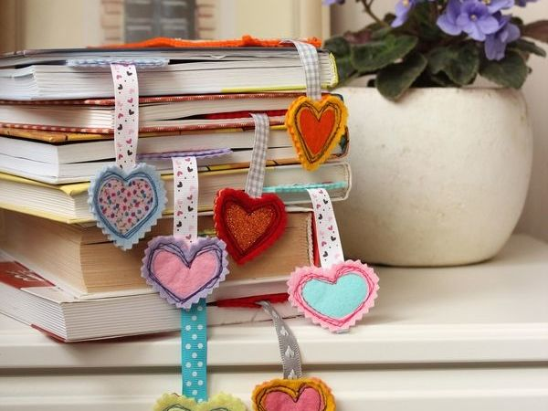 DIY Bookmarks From Felt   Livemaster - handmade
