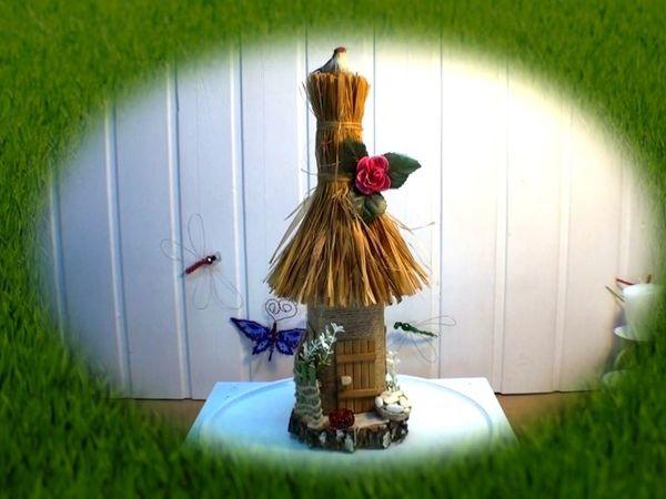 Мастерим домик из бутылки на березовом спиле | Ярмарка Мастеров - ручная работа, handmade