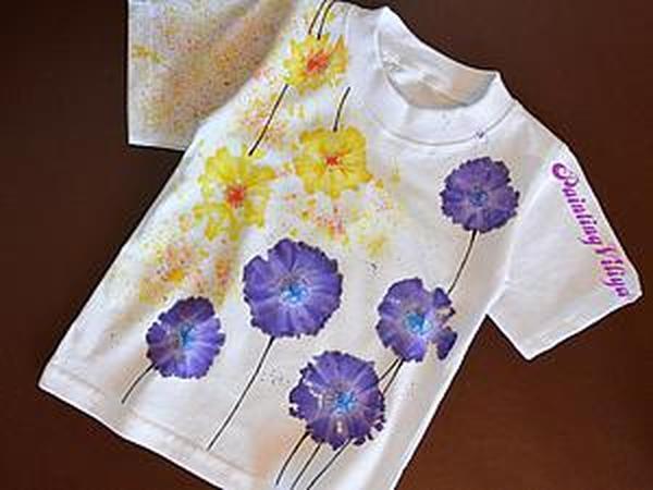 Роспись футболки в стиле Тай-Дай | Ярмарка Мастеров - ручная работа, handmade