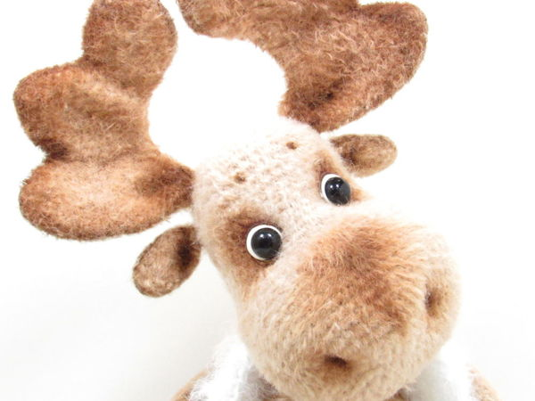 Орешек — лосик. Новый год и дед Морозик! | Ярмарка Мастеров - ручная работа, handmade