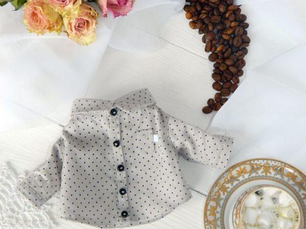 Шьем накладной кармашек для кукольной рубашки | Ярмарка Мастеров - ручная работа, handmade