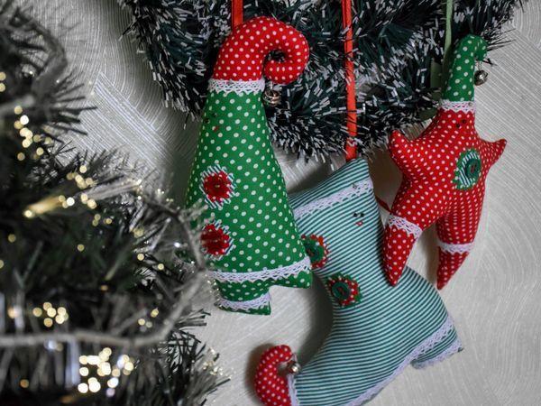Шьем текстильные игрушки на елку, или Магия новогодних украшений | Ярмарка Мастеров - ручная работа, handmade