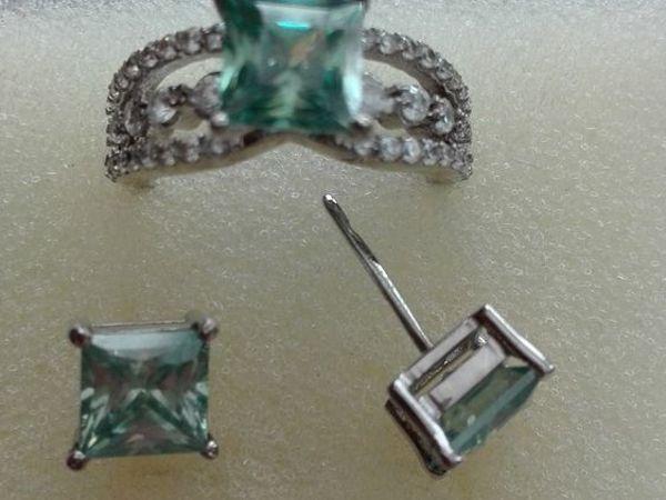 Видео Кольцо и серьги муассаниты серебро | Ярмарка Мастеров - ручная работа, handmade
