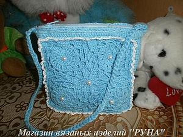 Вяжем детскую сумочку | Ярмарка Мастеров - ручная работа, handmade