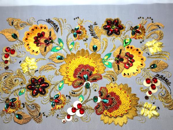 Вышиваем «Хохлому» в разных техниках | Ярмарка Мастеров - ручная работа, handmade