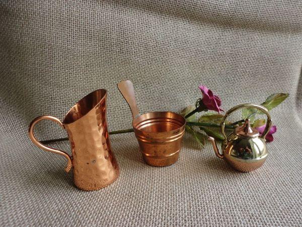 Набор миниатюрной медной посуды из Австралии и даже Тасмании | Ярмарка Мастеров - ручная работа, handmade