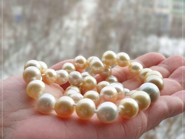 Ожерелье из морского жемчуга «Яхт клуб» | Ярмарка Мастеров - ручная работа, handmade