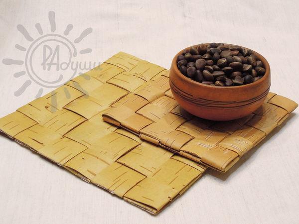 Плетем салфетку из бересты | Ярмарка Мастеров - ручная работа, handmade
