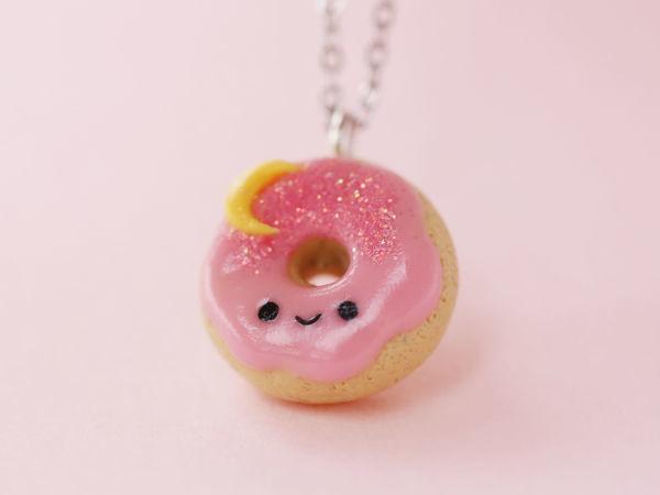 Лепим милый пончик из полимерной глины | Ярмарка Мастеров - ручная работа, handmade