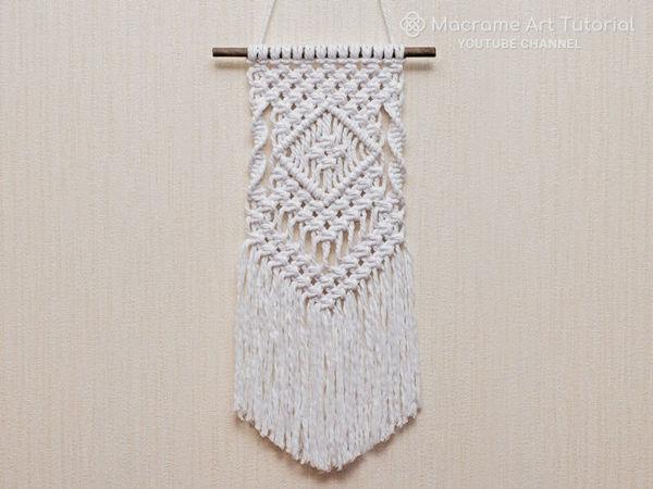 Плетем простое панно в технике макраме   Ярмарка Мастеров - ручная работа, handmade