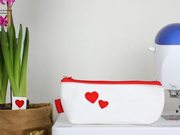 Шьем косметичку из швейного крафта   Ярмарка Мастеров - ручная работа, handmade