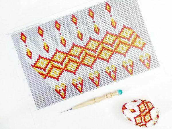 Как вязать из бисера яйца по схемам | Ярмарка Мастеров - ручная работа, handmade