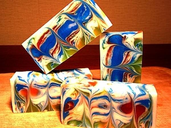 Мыло со свирлами из основы. Красиво, быстро и много!!! | Ярмарка Мастеров - ручная работа, handmade