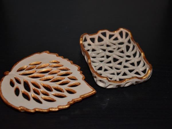 Мыльница-листик.лепим из живой глины   Ярмарка Мастеров - ручная работа, handmade