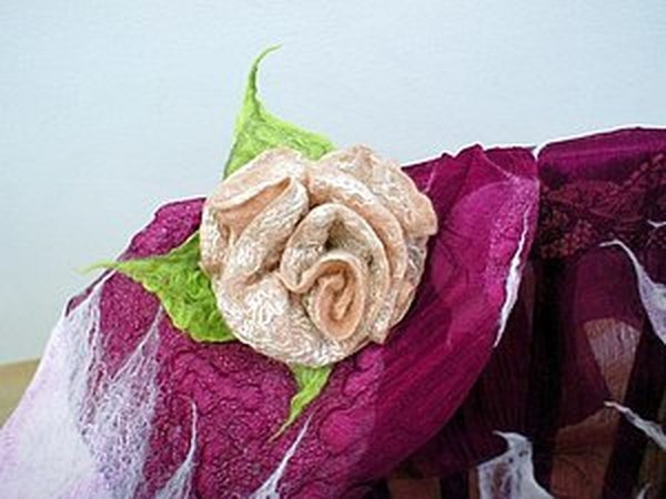 Мокрое валяние шерсти для новичков: фантазийные цветы. | Ярмарка Мастеров - ручная работа, handmade