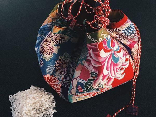Сумочка-узелок по-японски | Ярмарка Мастеров - ручная работа, handmade